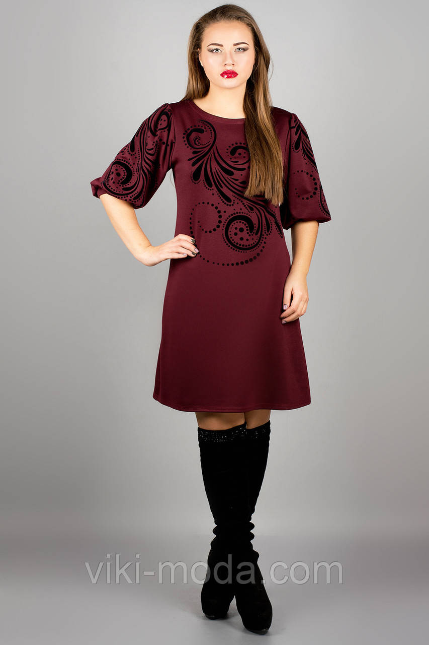 Платье Каролина (бордовый)