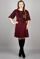 Сукня Кароліна (бордовий), фото 1