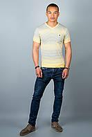 Мужская футболка (желтые полоски )