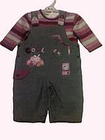 """Комплект одежды для новорожденной девочки """"Зайка"""":реглан и полукомбинезон,3-6 мес."""
