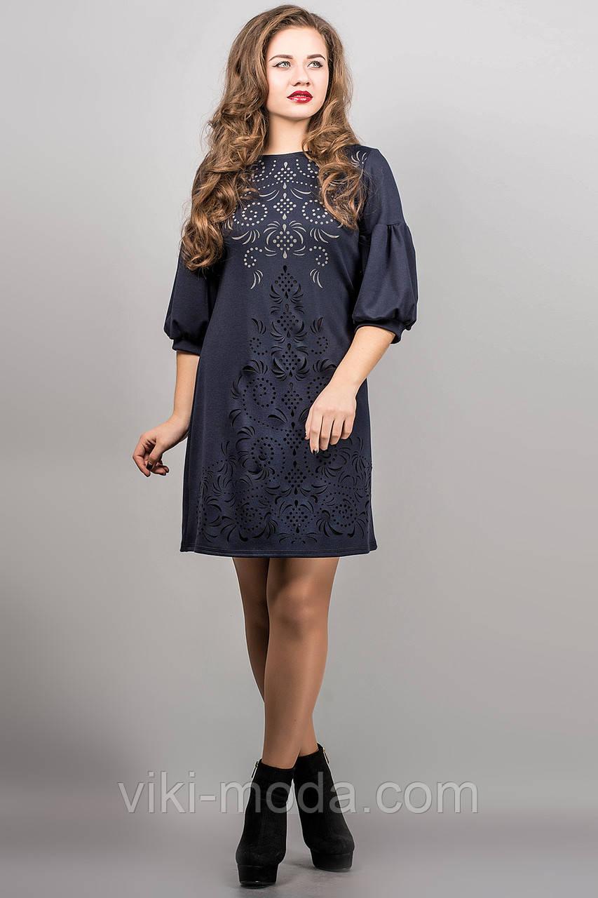 Платье Кармен (синий)