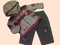 Комплект стильной одежды для новорожденной девочки 3-6 мес.: толстовка и брючки