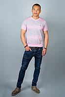Чоловіча футболка (рожеві смужки ), фото 1