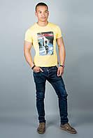 Мужская футболка (желтая№33), фото 1