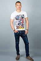 Мужская футболка (белая №30), фото 1