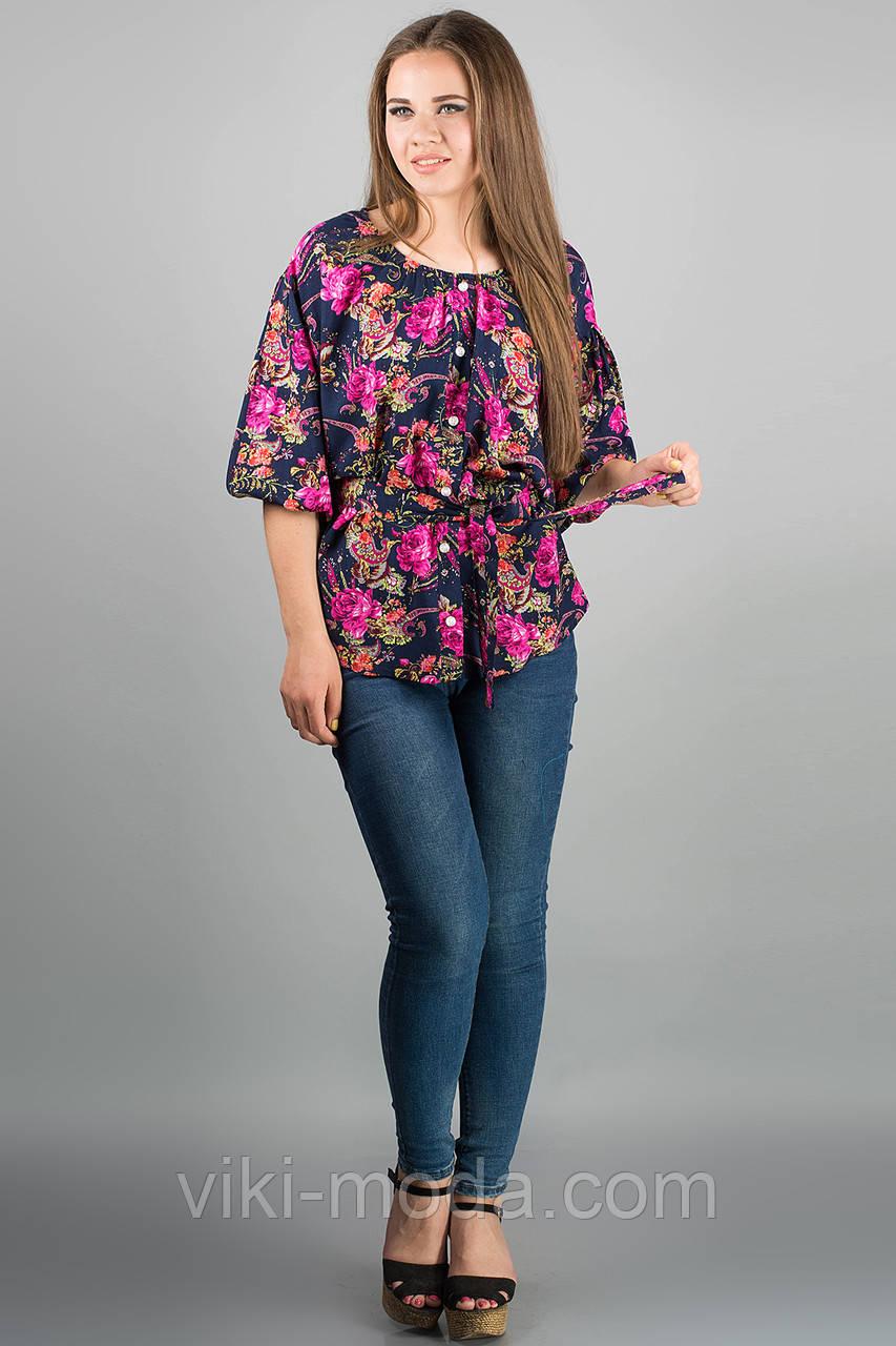 Сорочка Лоліта (рожеві квіти)