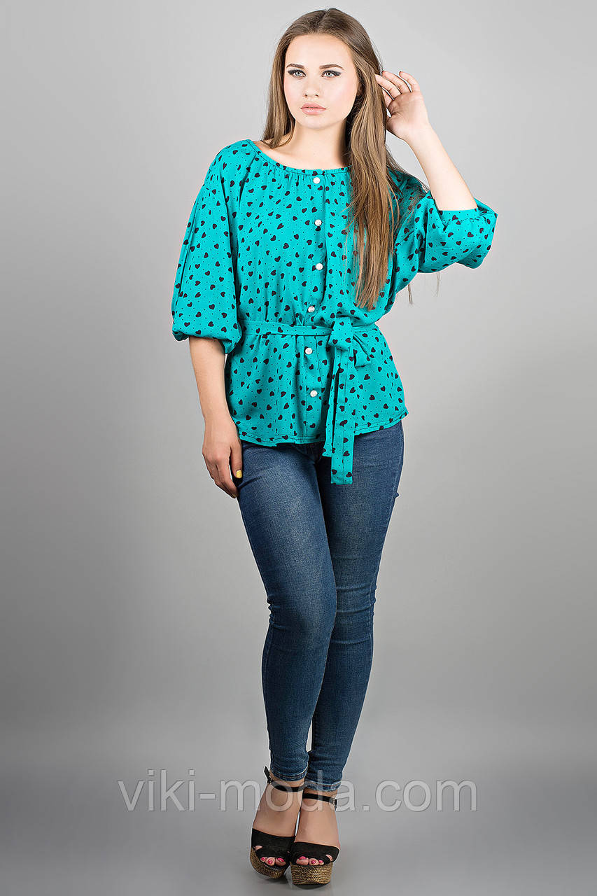 Рубашка Лолита (бирюза)