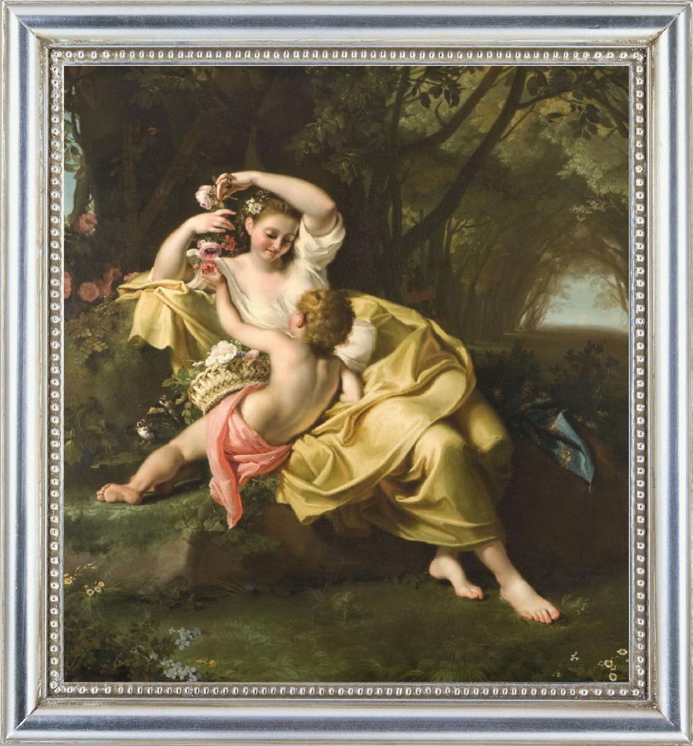 Репродукція картини Бартоломео Гуидобоно (Італія) «Алегорія весни» 60 х 65 см