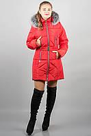 Зимова куртка Дорри (червона сіре хутро)