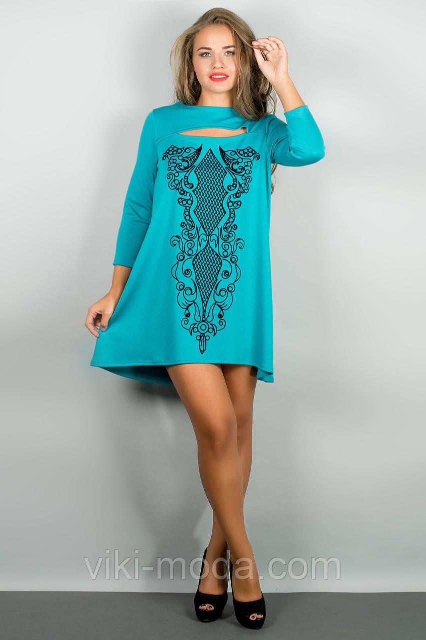 Платье Соланж (бирюза)
