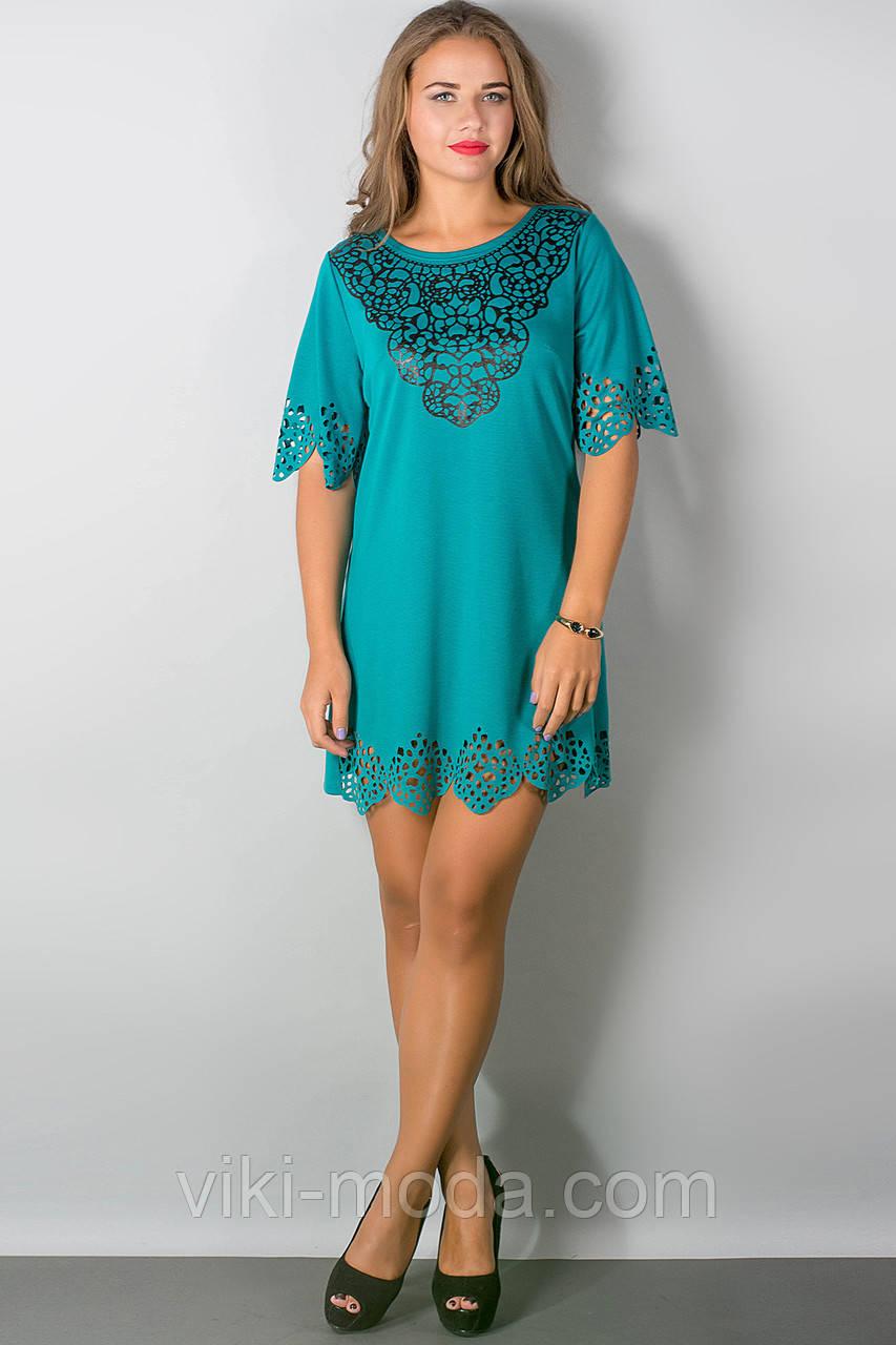 Платье Шедевр (бирюза)