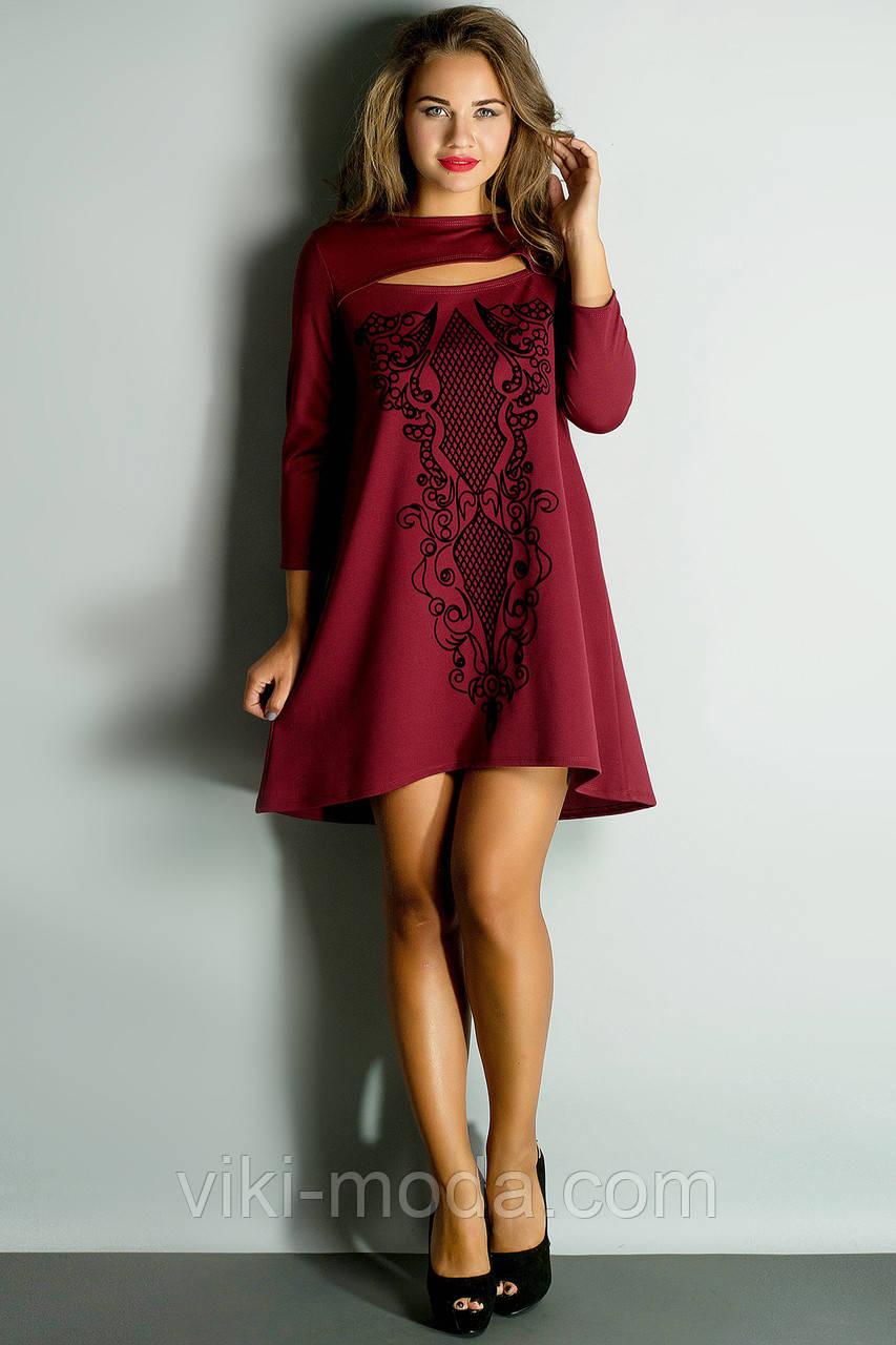 Платье Соланж (бордовый)