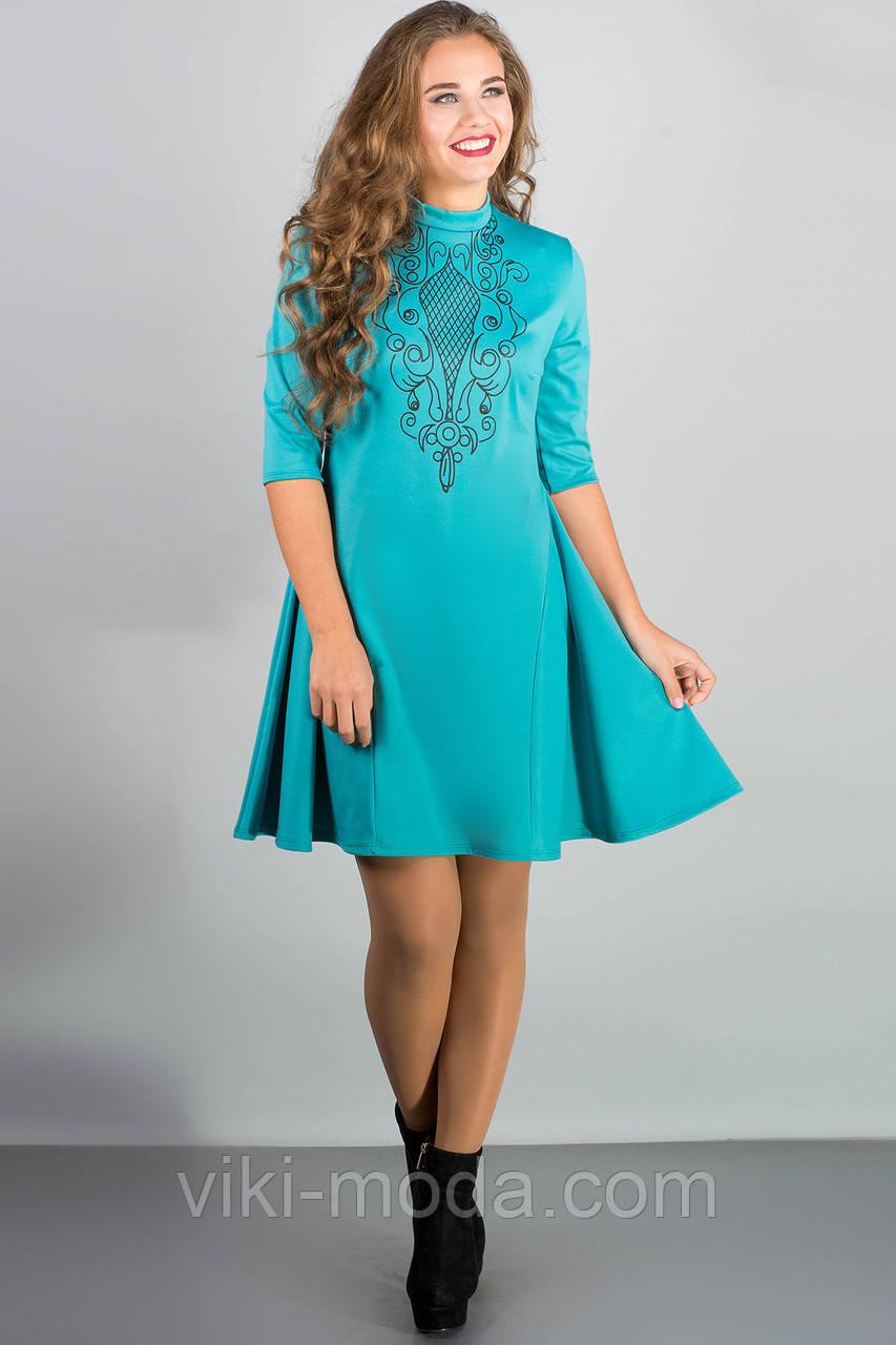 Платье Француаза (бирюза)