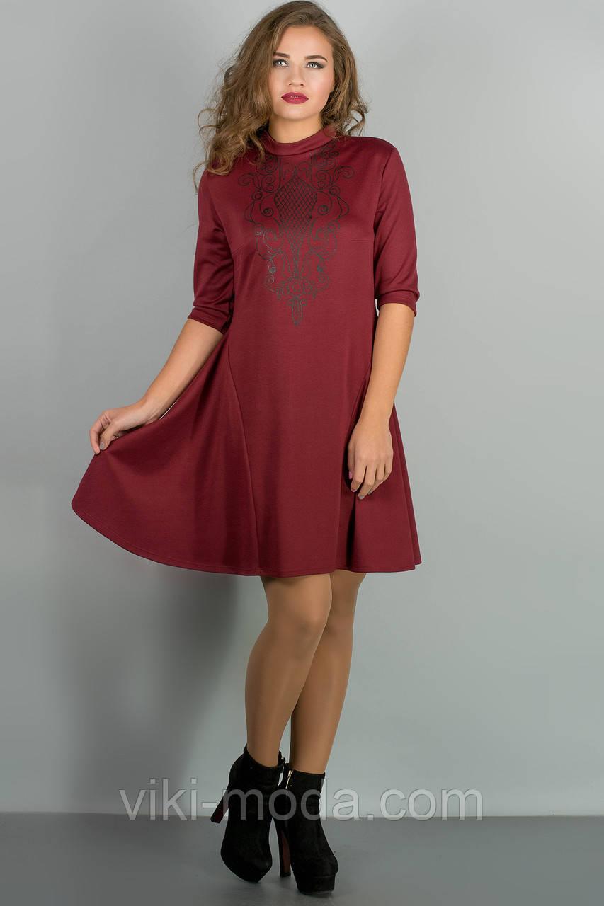 Платье Француаза (бордовый)