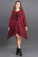Платье Бланк (бордовый)