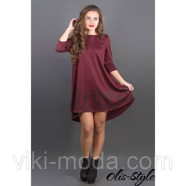 Платье Гретти (бордовый)