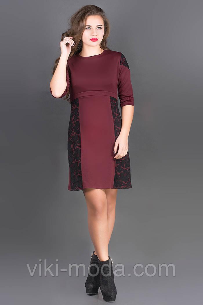 Платье Оника (бордовый)
