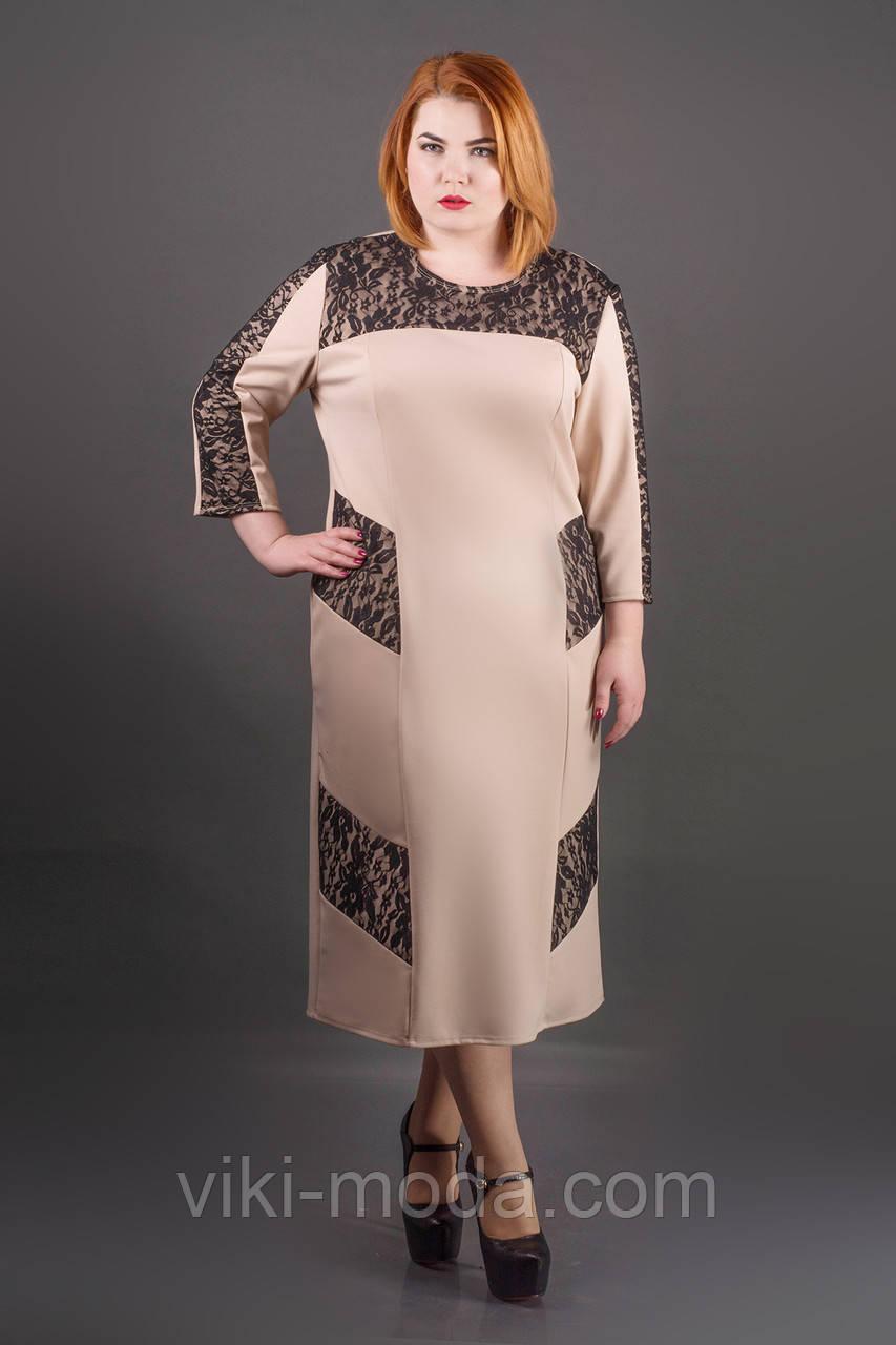 Платье Грация (бежевый), фото 1