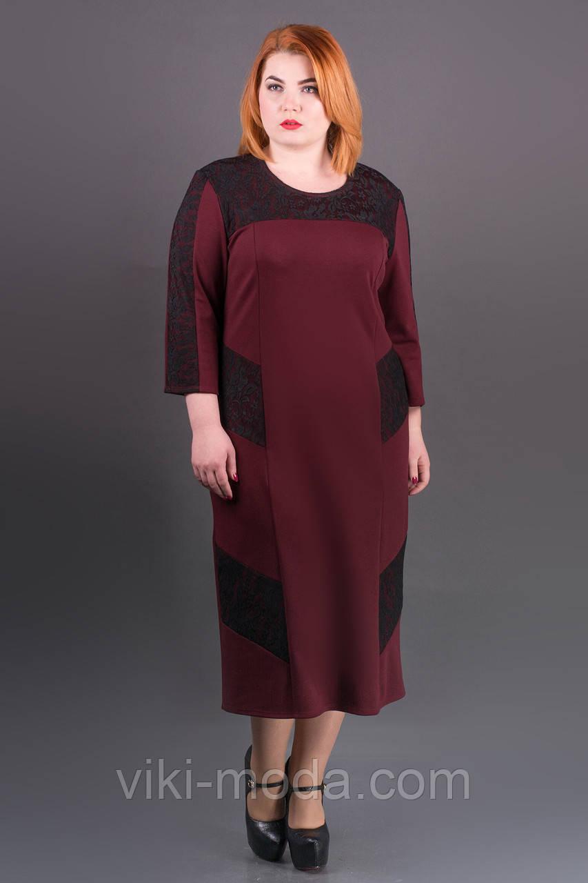 Платье Грация (бордовый)