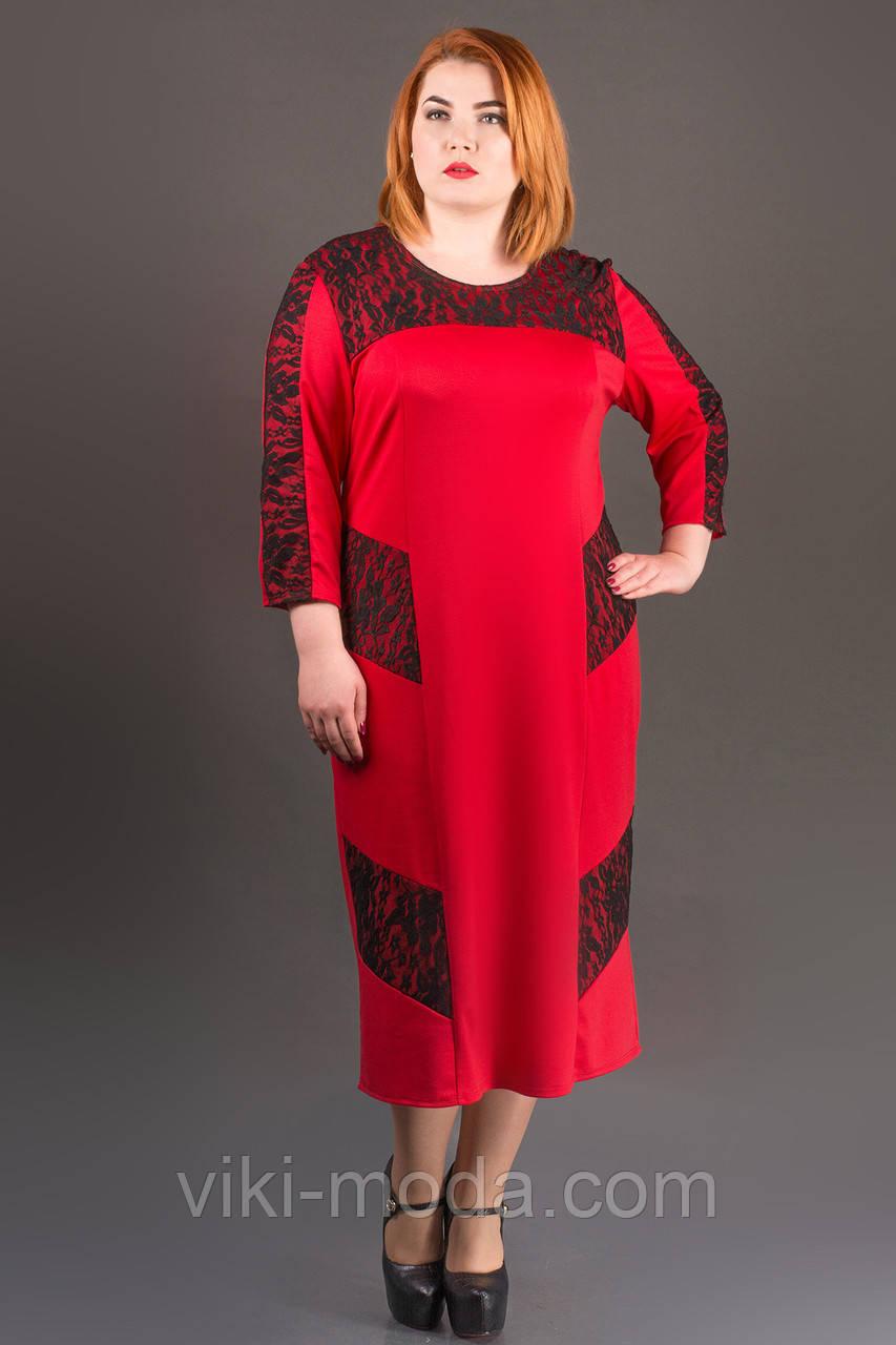Платье Грация (красный)