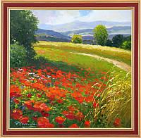 Репродукция   картины Герхарда Несвадьбы «Весенний луг» 60 х 60 см
