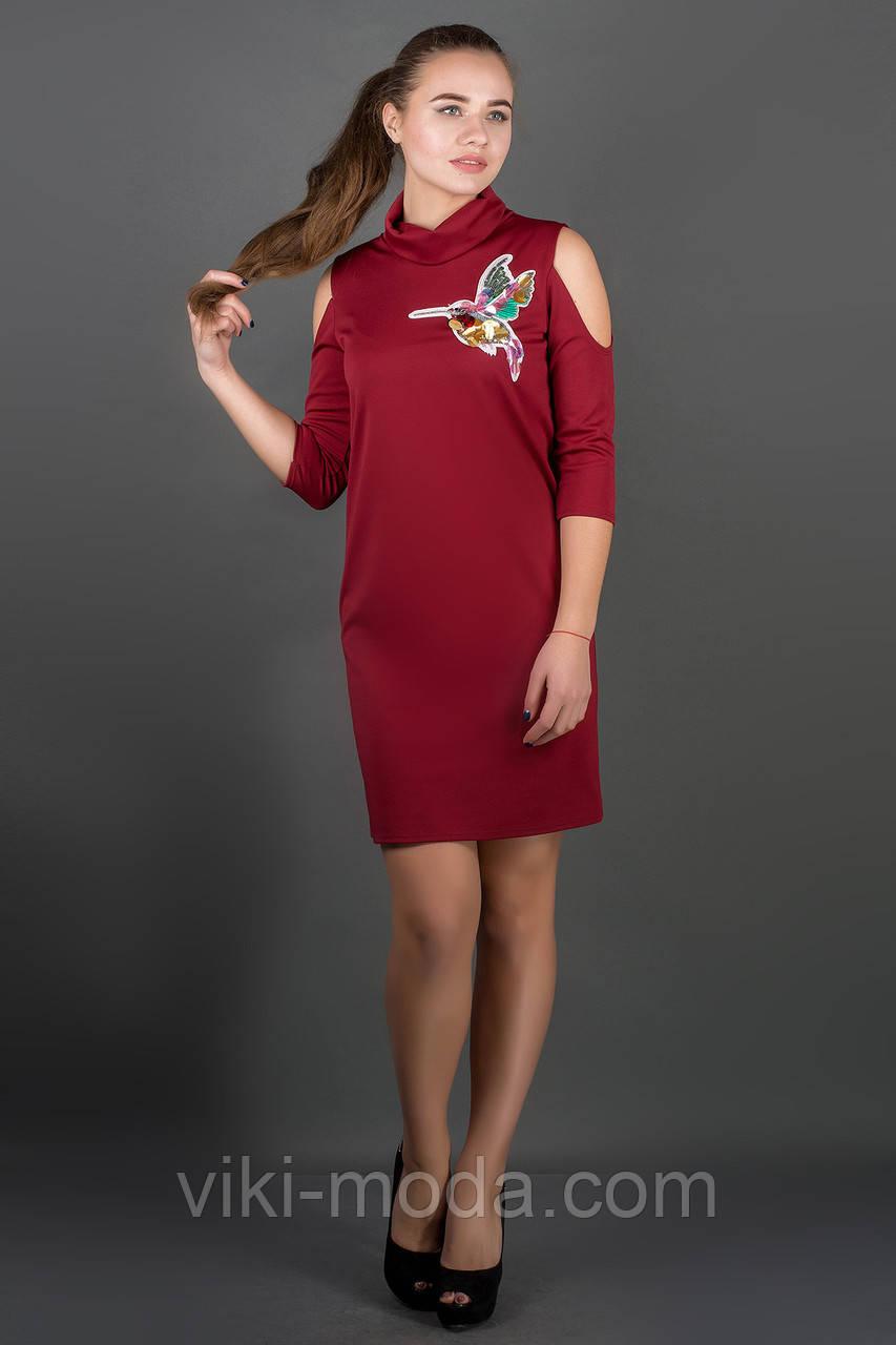 Платье Самира (бордовый), фото 1