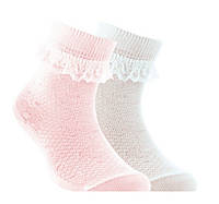 "Носки для девочки ""TIP-TOP"" (кружево) ""Conte"", светло-розовый, 14"
