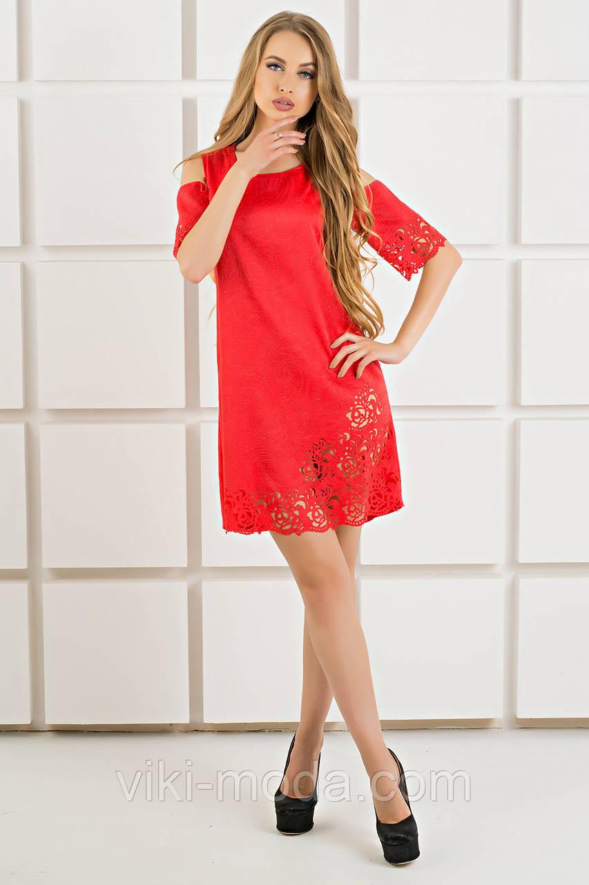 Платье Марлен (красный)
