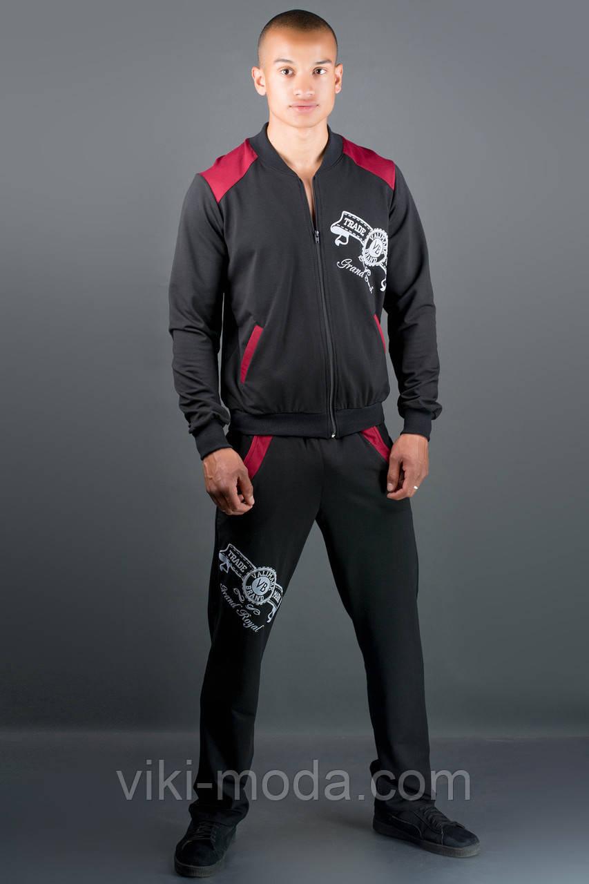 Мужской спортивный костюм Митчел (бордовый)