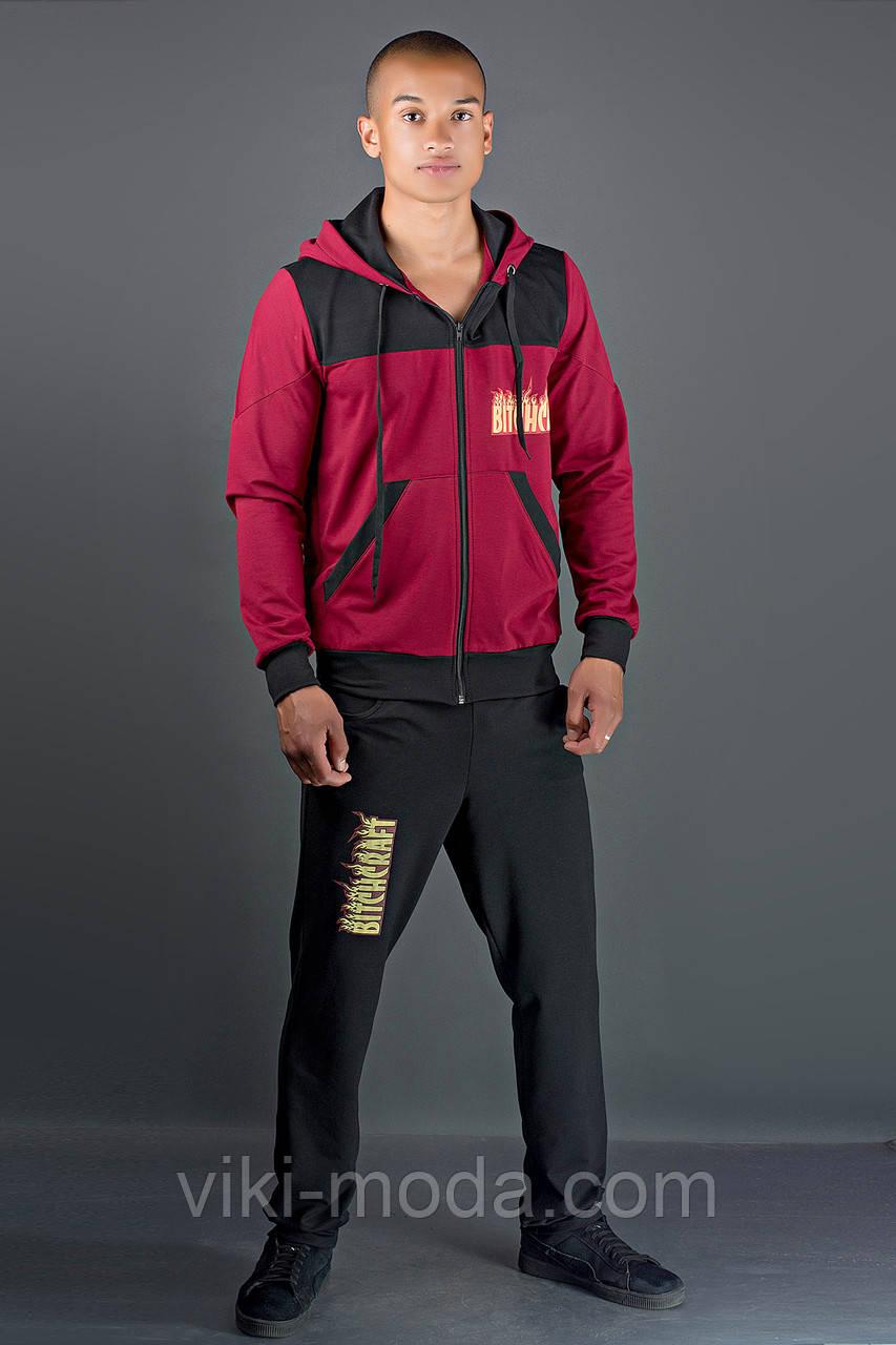 Мужской спортивный костюм Сэм (бордовый)