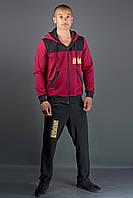 Мужской спортивный костюм Сэм (бордовый), фото 1