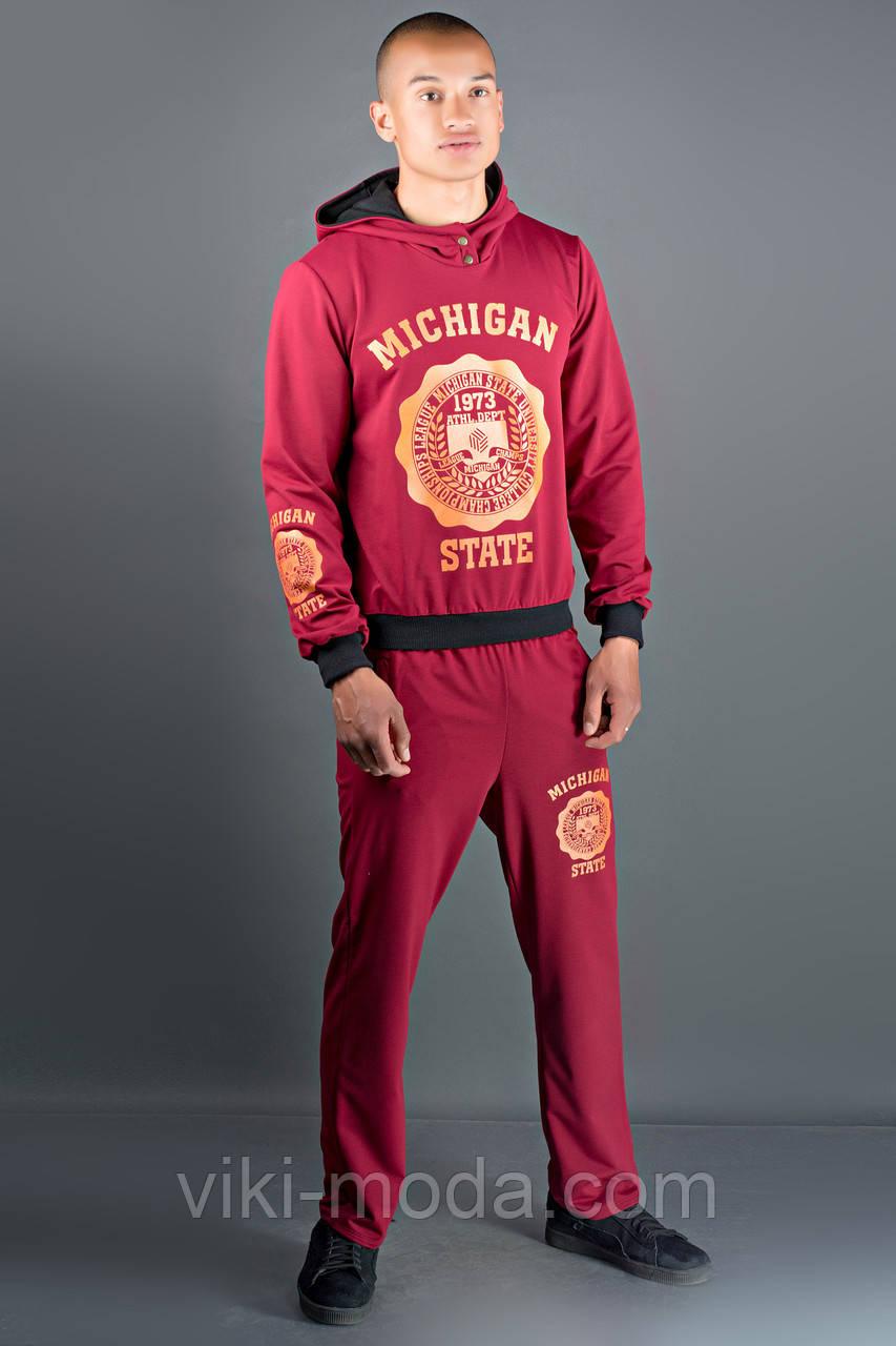 Мужской спортивный костюм Тотем (бордовый)