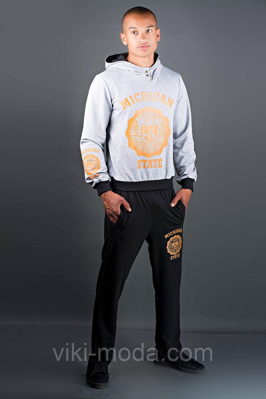 Мужской спортивный костюм Тотем (серо-черный)