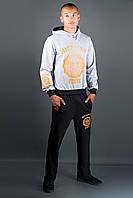 Мужской спортивный костюм Тотем (серо-черный), фото 1