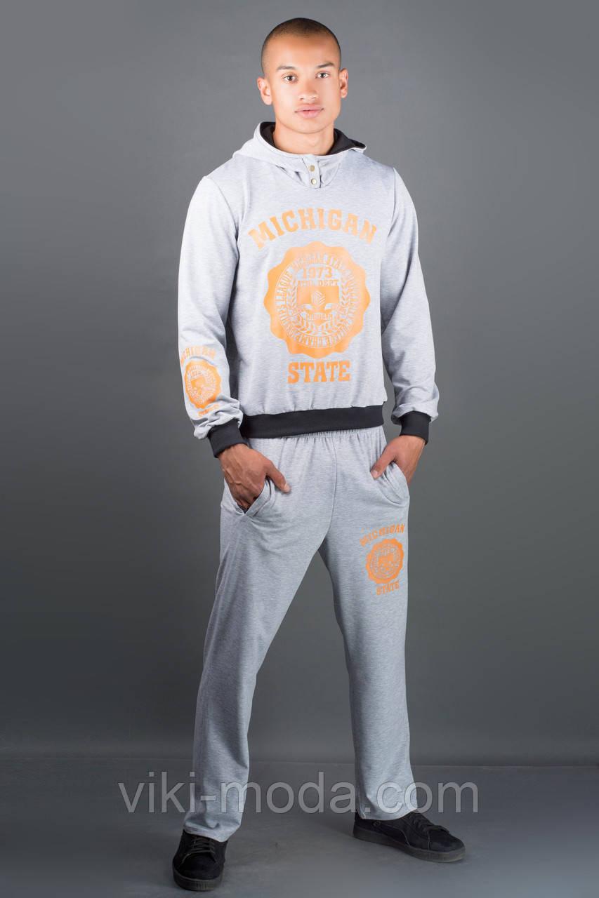 Мужской спортивный костюм Тотем (серый)