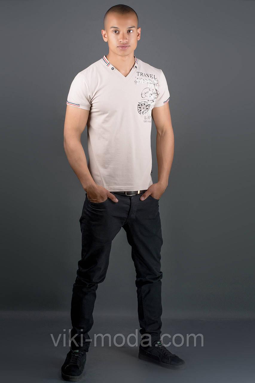 Мужская футболка Грэт (бежевый)