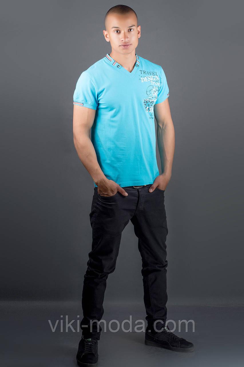 Мужская футболка Грэт (голубой)