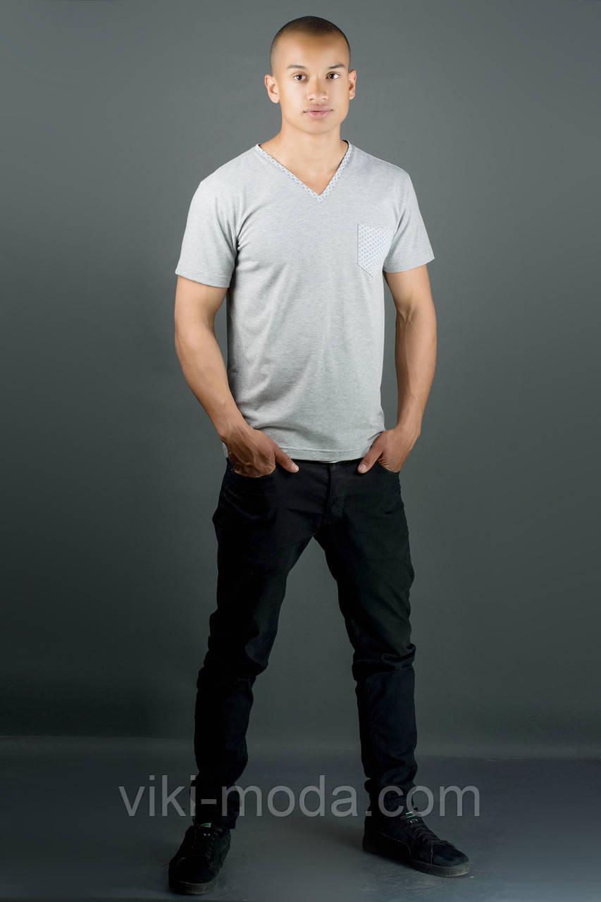 Мужская футболка Жерар (серый)