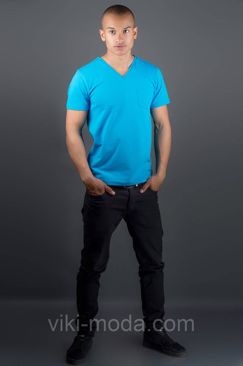 Мужская футболка Жерар (голубой)