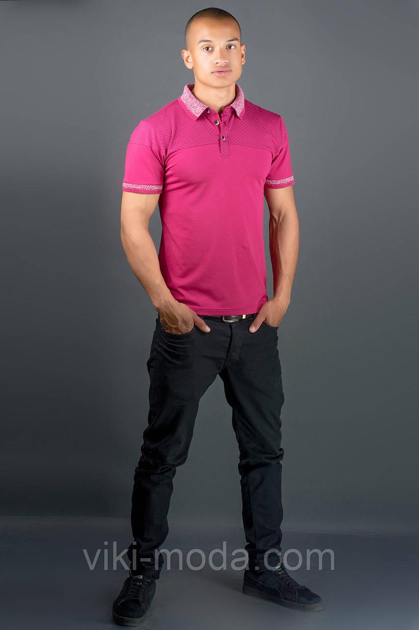 Мужская футболка Жорж (бордовый)