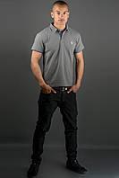 Мужская футболка Поло (серый), фото 1