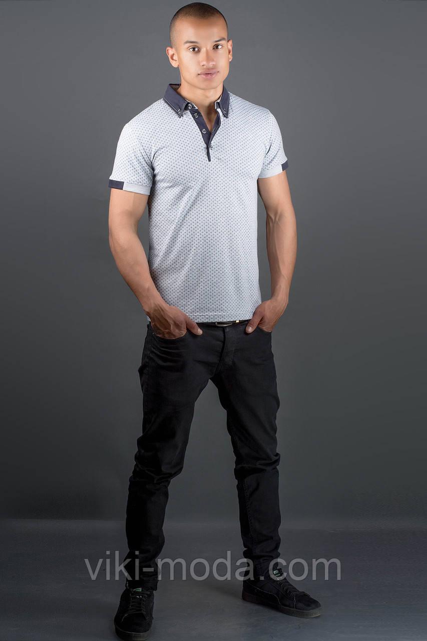 Мужская футболка Принт (серый)