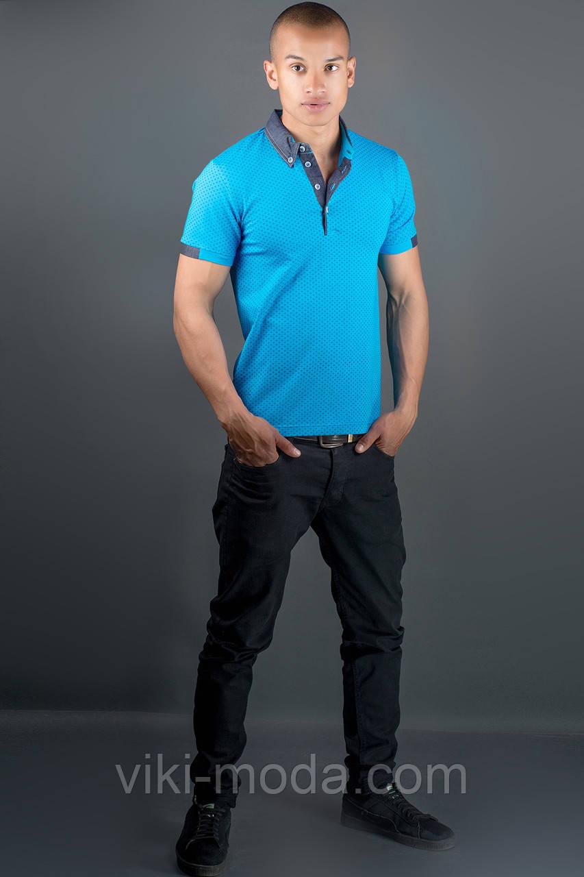 Мужская футболка Принт (бирюза)