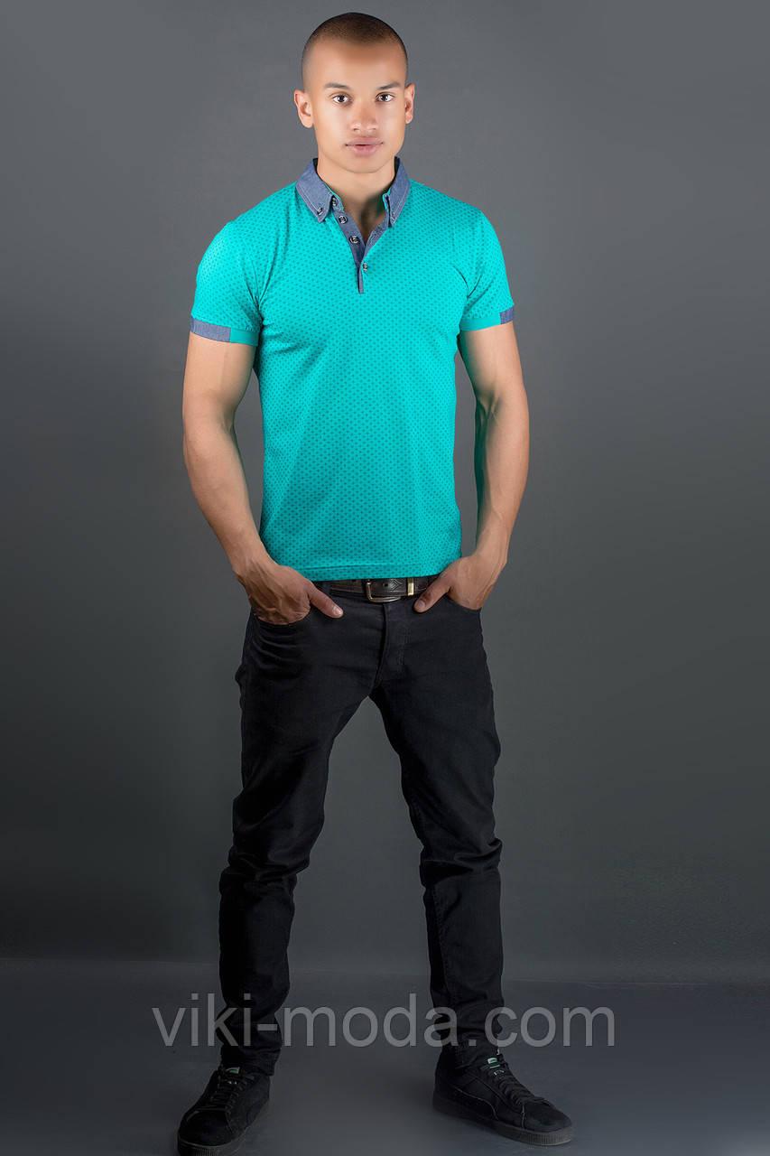 Мужская футболка Принт (морская волна)