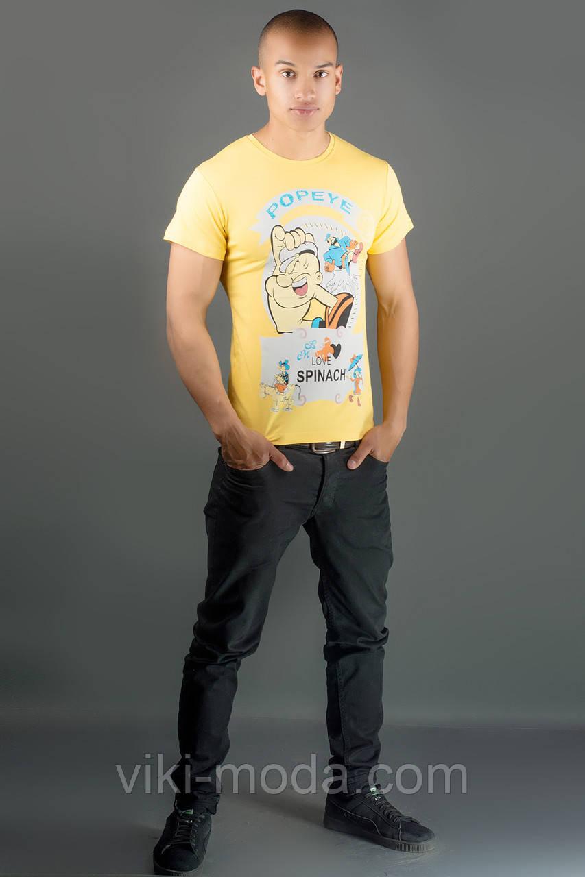 Мужская футболка Попей (желтый)