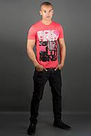 Мужская футболка Йонес (красный), фото 1
