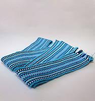 Детский тканый пояс (синий)