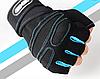 Перчатки для тренировок Голубые Размер XL