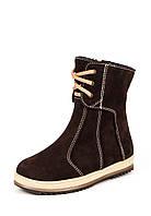 Ботинки верх нубук / кожа на байке весенне осенние для девочки