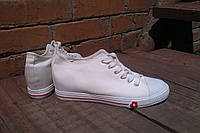 Кеды сникерсы женские на платформе W-10 белые